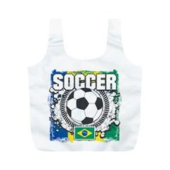Soccer Brazil Full Print Recycle Bag (M)