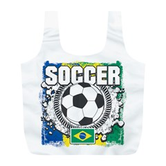 Soccer Brazil Full Print Recycle Bag (l)