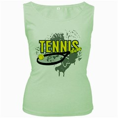 Tennis Women s Green Tank Top