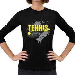 Tennis Women s Long Sleeve Dark T-Shirt