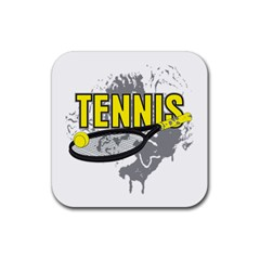 Tennis Rubber Square Coaster (4 pack)