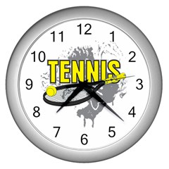 Tennis Wall Clock (Silver)