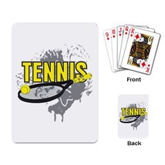 Tennis Playing Cards Single Design