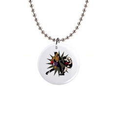 Knockout Boxing 1  Button Necklace