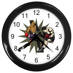 Knockout Boxing Wall Clock (black)