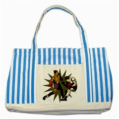 Knockout Boxing Striped Blue Tote Bag