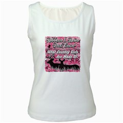 Ribbons Bows Pink Camo Country Girls Women s Tank Top