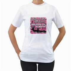 Ribbons Bows Pink Camo Country Girls Women s T-Shirt (White)