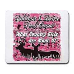 Ribbons Bows Pink Camo Country Girls Large Mousepad