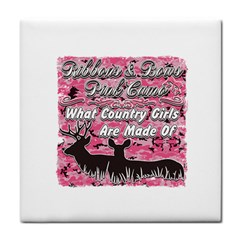Ribbons Bows Pink Camo Country Girls Face Towel