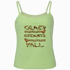 Crazy Redneck Y all Pink Camouflage Green Spaghetti Tank