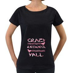Crazy Redneck Y all Pink Camouflage Women s Loose Fit T Shirt (black)