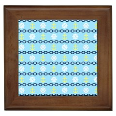 Anchors & Boat Wheels Framed Ceramic Tile