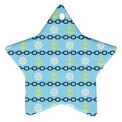 Anchors & Boat Wheels Star Ornament