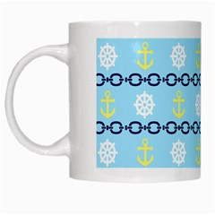 Anchors & Boat Wheels White Coffee Mug