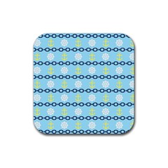 Anchors & Boat Wheels Drink Coasters 4 Pack (Square)
