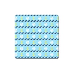 Anchors & Boat Wheels Magnet (Square)