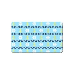 Anchors & Boat Wheels Magnet (name Card)
