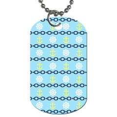 Anchors & Boat Wheels Dog Tag (Two-sided)