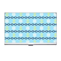 Anchors & Boat Wheels Business Card Holder