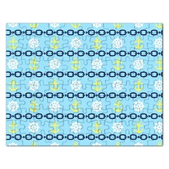 Anchors & Boat Wheels Jigsaw Puzzle (Rectangle)