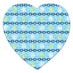 Anchors & Boat Wheels Jigsaw Puzzle (Heart)