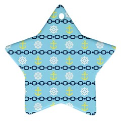 Anchors & Boat Wheels Star Ornament (two Sides)