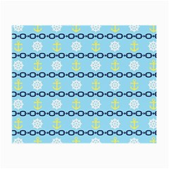 Anchors & Boat Wheels Glasses Cloth (Small, Two Sided)
