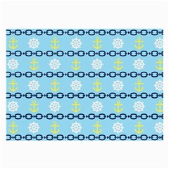 Anchors & Boat Wheels Glasses Cloth (Large, Two Sided)