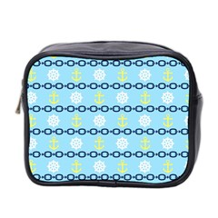 Anchors & Boat Wheels Mini Travel Toiletry Bag (two Sides)