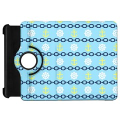 Anchors & Boat Wheels Kindle Fire HD 7  (1st Gen) Flip 360 Case