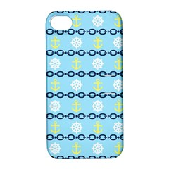 Anchors & Boat Wheels Apple Iphone 4/4s Hardshell Case With Stand