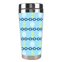 Anchors & Boat Wheels Stainless Steel Travel Tumbler