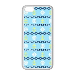 Anchors & Boat Wheels Apple iPhone 5C Seamless Case (White)