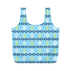Anchors & Boat Wheels Reusable Bag (M)