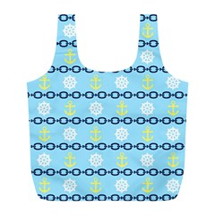 Anchors & Boat Wheels Reusable Bag (l)