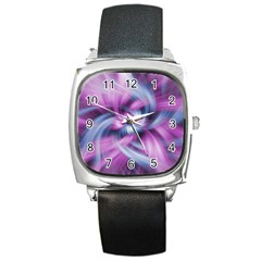 Mixed Pain Signals Square Leather Watch