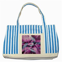 Mixed Pain Signals Blue Striped Tote Bag
