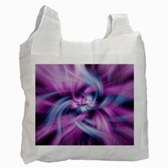 Mixed Pain Signals White Reusable Bag (two Sides)
