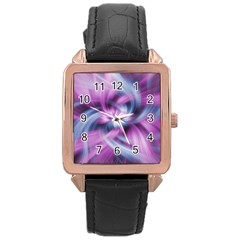 Mixed Pain Signals Rose Gold Leather Watch