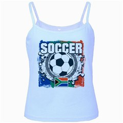 Soccer South Africa Baby Blue Spaghetti Tank