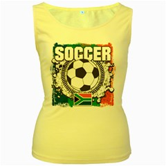 Soccer South Africa Women s Yellow Tank Top