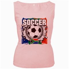 Soccer South Africa Women s Pink Tank Top