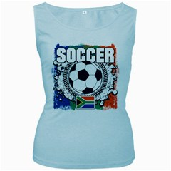 Soccer South Africa Women s Baby Blue Tank Top