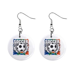Soccer South Africa 1  Button Earrings