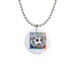Soccer South Africa 1  Button Necklace