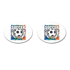 Soccer South Africa Cufflinks (oval)