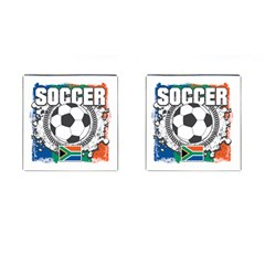 Soccer South Africa Cufflinks (Square)
