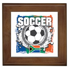 Soccer South Africa Framed Tile