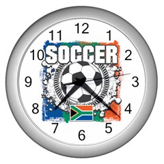 Soccer South Africa Wall Clock (silver)